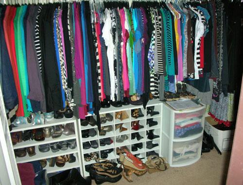 Debbie's closet - January 2013