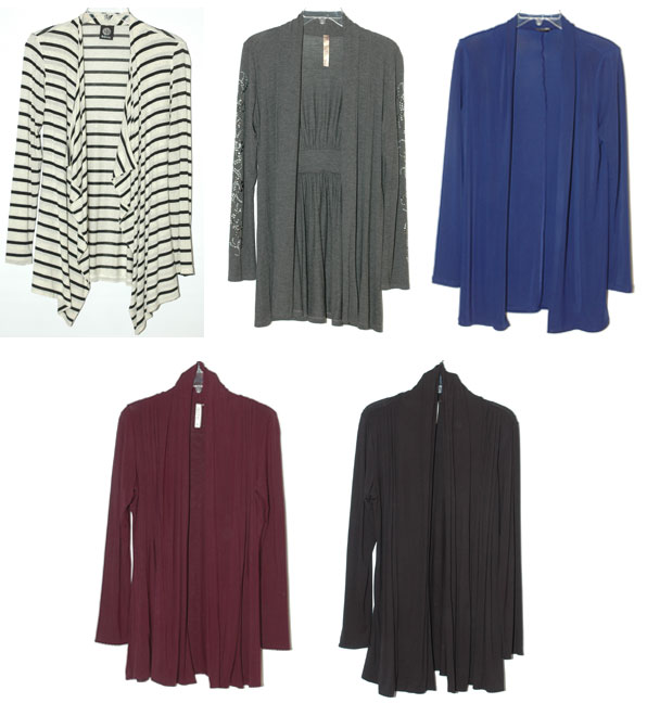 Long cardigans in a variety of colors