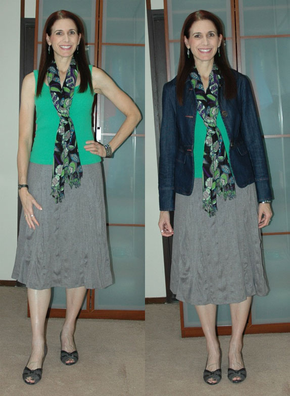 Project 333 Week One Outfit 3 (with and without jacket)