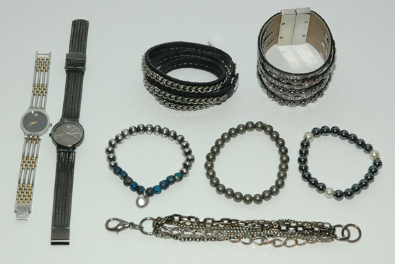 Watches and Bracelets Worn - April 2013