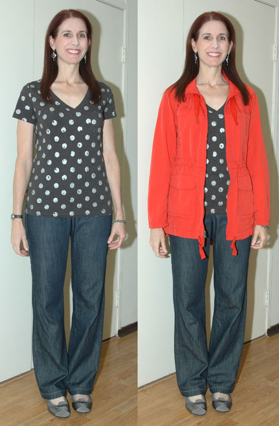 Project 333 Week 7 - Outfit #3 (with and without jacket)