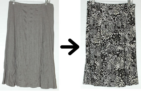 Project 333 swap - grey skirt