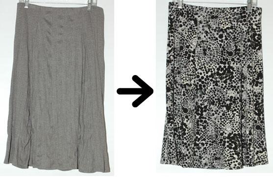 Project 333 swap - grey skirt