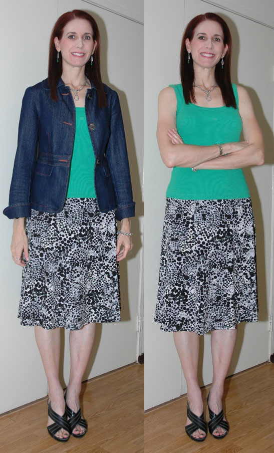 Project 333 Week Ten - Outfit #3 (with and without jacket)
