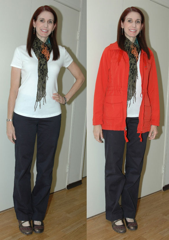 P333 Week 11 - Outfit #1 (with and without jacket)