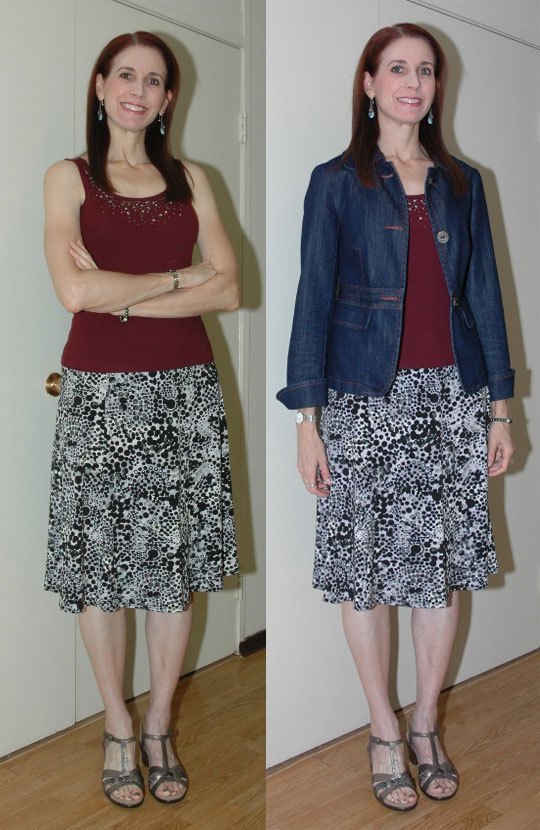 P333 Week 11 - Outfit #3 (with and without jacket)