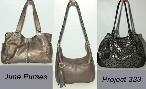 Project 333 - Purses Used June 2013