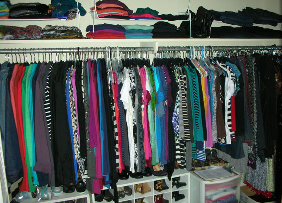 My Closet Before Project 333
