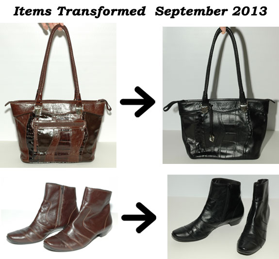 Before and After - Purse and Boots