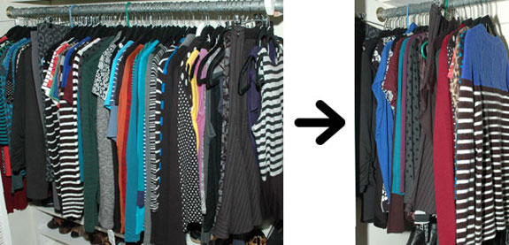 Wardrobe Benchwarmers Before and After