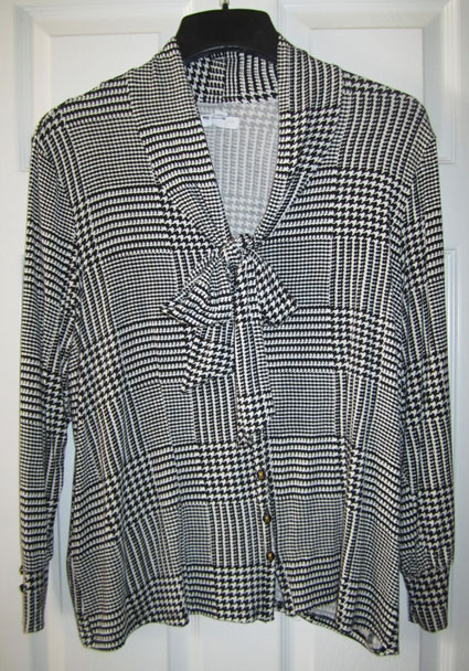 Glen Plaid Blouse