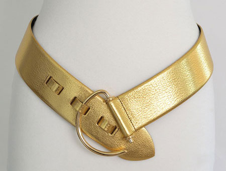 Gold leather hip belt