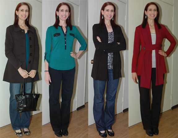 Project 333 - Month Two Favorite Outfits 1-4