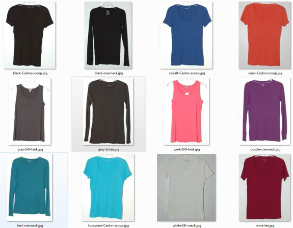 Basic knit tops