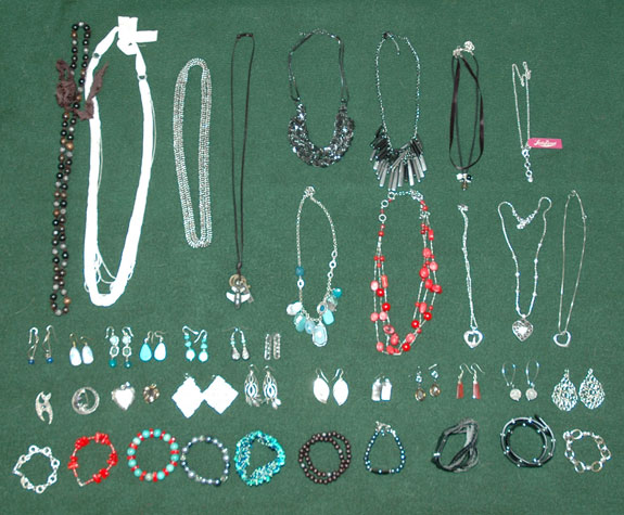 Purged jewelry pieces