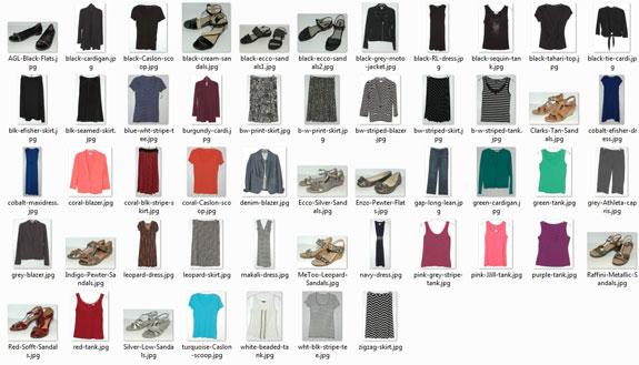 Items worn - July 2014