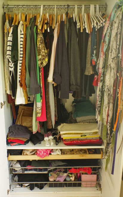 What my closet looks like today