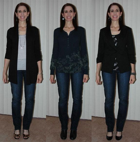Slim leg jean outfits