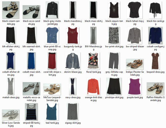 Items Worn - August 2014