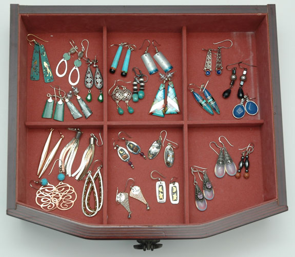 My colorful earring collection