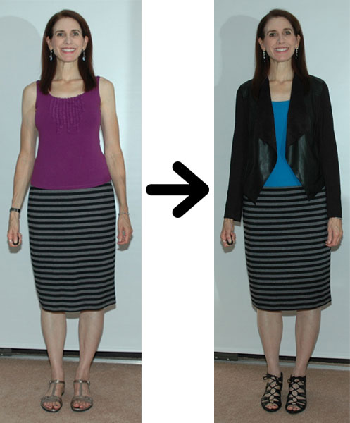 Pencil skirt restyling