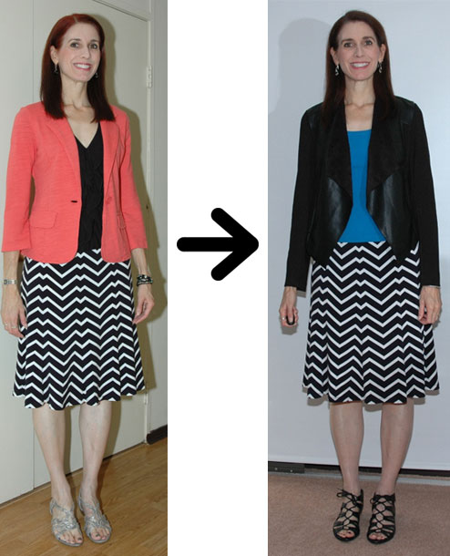 Zigzag skirt restyling