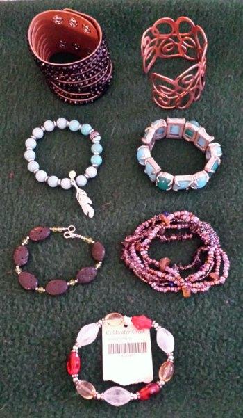 January 2015 -purged bracelets