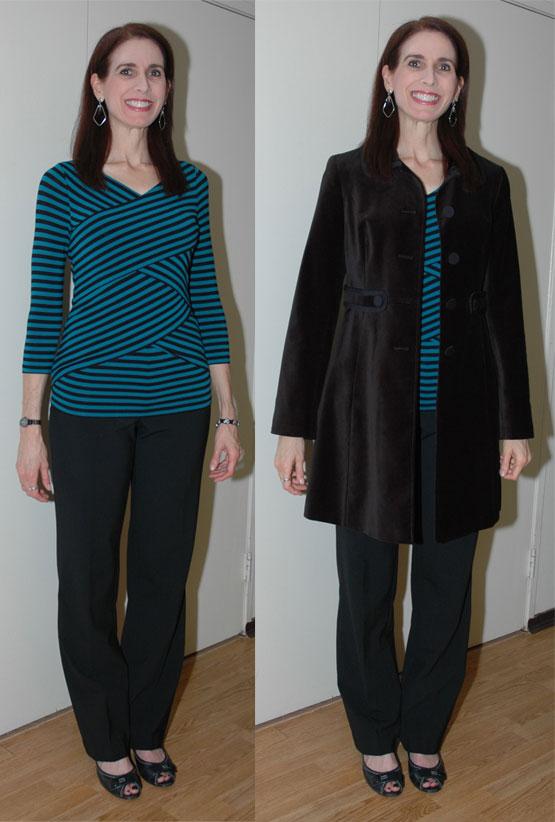 Black velvet coat outfit