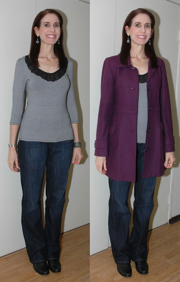 Purple coat outfit