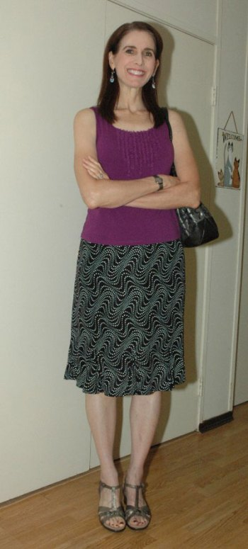 Purple tank skirt outfit