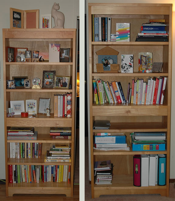 Our Bookcases Now