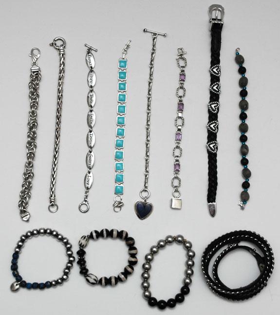 Bracelets worn - January and February 2015