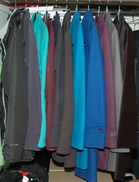 February 2014 working closet - jackets and coats
