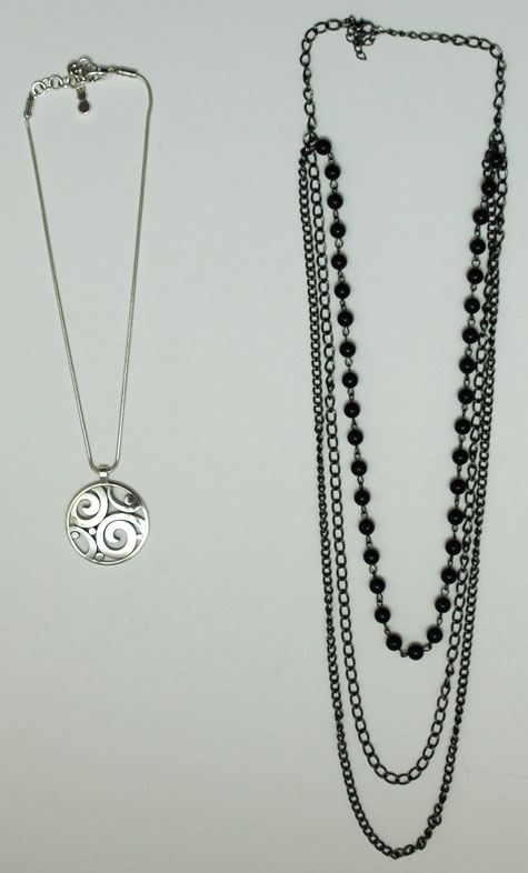 Necklaces worn January and February 2015