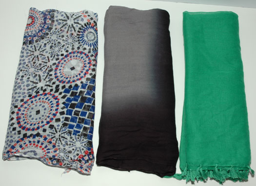 Scarves worn January and February 2015