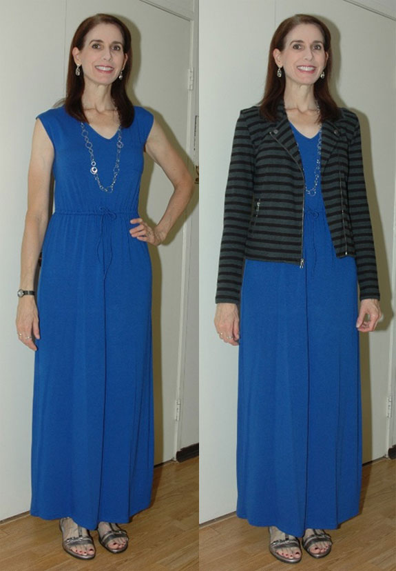 Cobalt maxi-dress