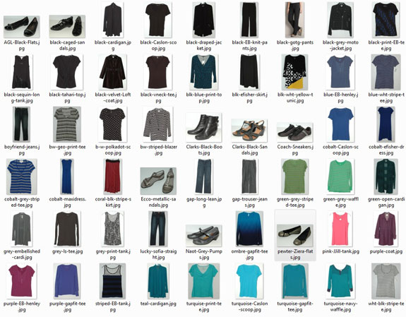 Items worn - March 2015
