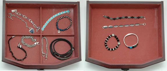 March 2015 working closet - the bracelets