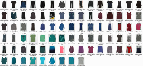 March 2015 working closet clothing