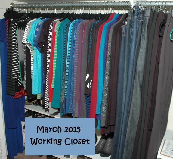 March 2015 working closet