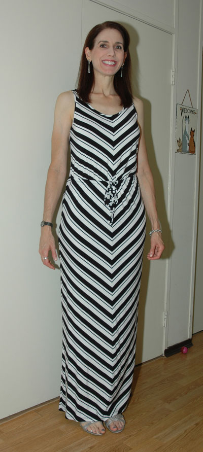 Striped maxi-dress