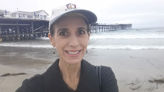 crystal pier selfie