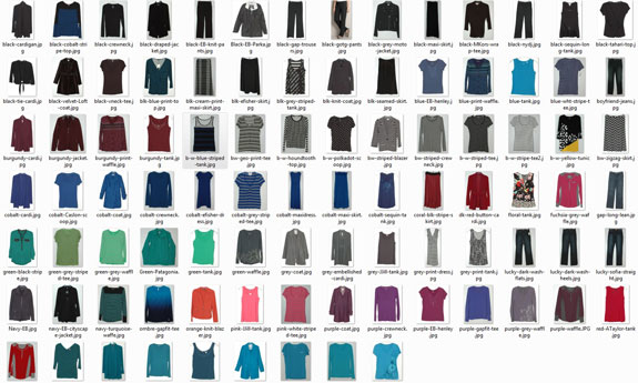 May 2015 Working Closet - Clothes