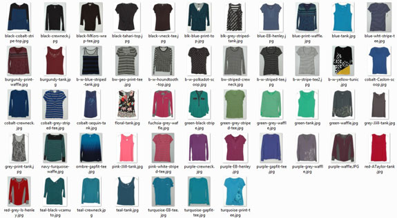 May 2015 Working Closet - Tops