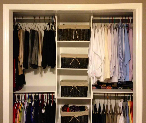 Do-it-yourself closet modifications