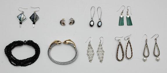 June 2015 - unworn earrings and bracelets