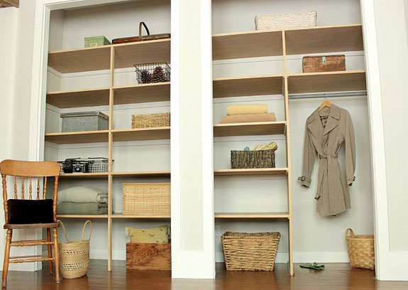 Closet shelving options