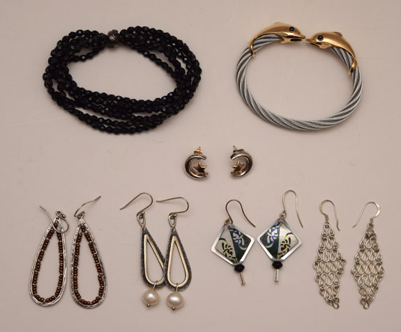 July 2015 - earrings and bracelets not yet worn