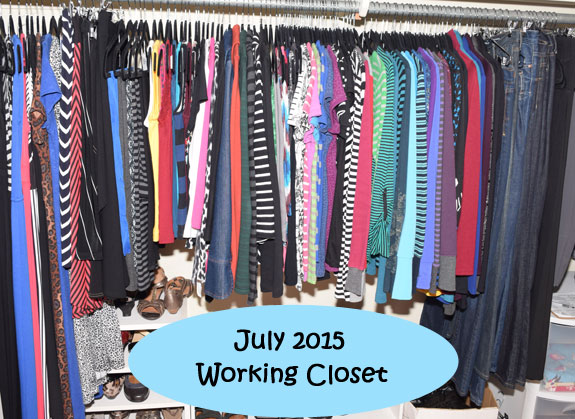July 2015 working closet
