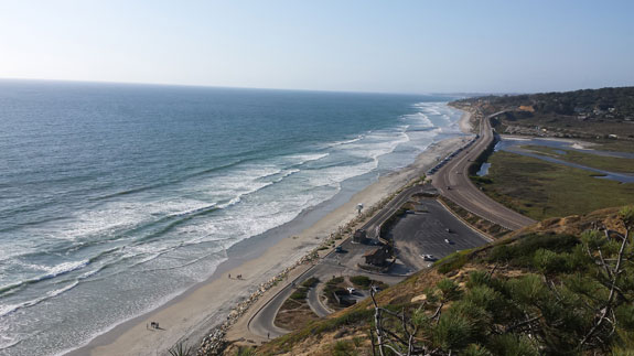 Torrey Pines Beach from above